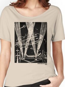 Night Traffic, Whitehall Hoverport Women's Relaxed Fit T-Shirt