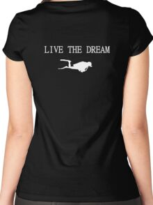 Live the Dream and Scuba Dive Women's Fitted Scoop T-Shirt
