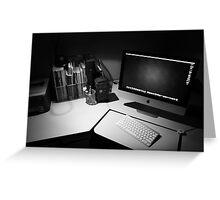 My desk : The modern day photographers dark room. Greeting Card