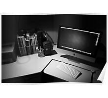 My desk : The modern day photographers dark room. Poster