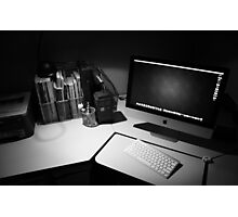 My desk : The modern day photographers dark room. Photographic Print