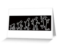 HARING EVOLVES by Tai's Tees Greeting Card