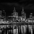 The Yarra River Melbourne at night. by Nick Egglington
