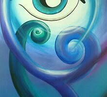 Koru Eye  by Reina  Cottier Art