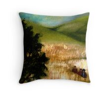 In the Fields Throw Pillow