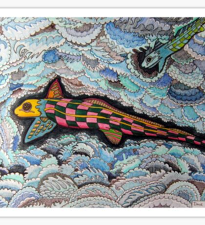 347 - RABBITFISH DESIGN - DAVE EDWARDS - COLOURED PENCILS & FINELINERS - 2012 Sticker