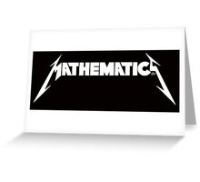 Mathematics Rock! Greeting Card