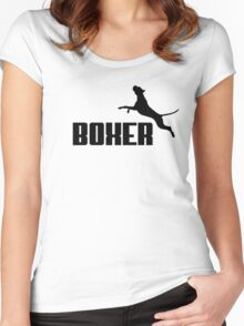 Boxer (black) Women's Fitted Scoop T-Shirt