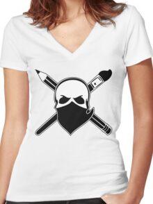 Art Bandit Women's Fitted V-Neck T-Shirt