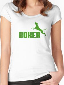 Boxer (green) Women's Fitted Scoop T-Shirt