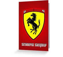 Scuderia Sleipnir Shield Greeting Card
