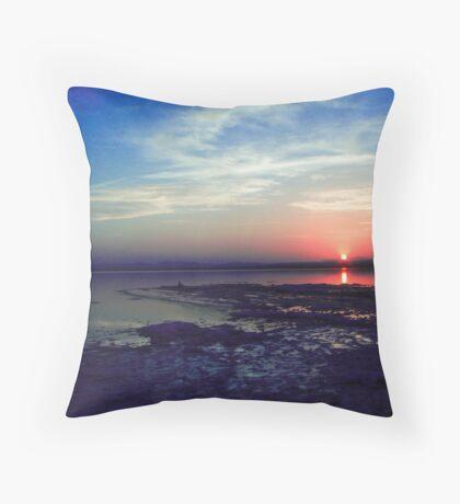 Lake with reflexion Throw Pillow