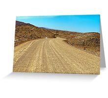 """""""Highway""""  /Namib Desert Greeting Card"""