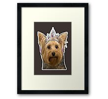 dog need loved Framed Print