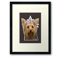 dog need loved Framed Print