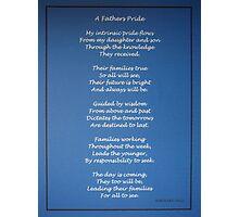 A Father's Pride Photographic Print