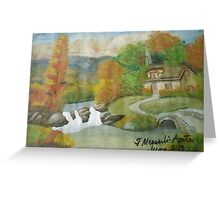 Swiss cottages Greeting Card