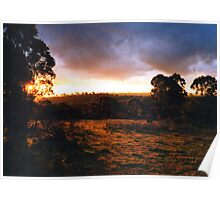 Hill End Sunset - NSW Poster