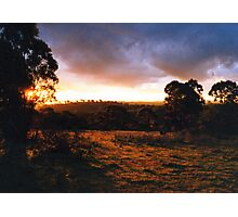 Hill End Sunset - NSW Photographic Print