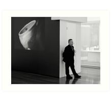 NGV Gallery and Security Guard Art Print