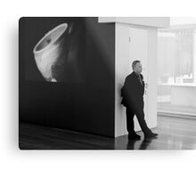 NGV Gallery and Security Guard Metal Print