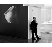 NGV Gallery and Security Guard Photographic Print