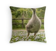 Young goose Throw Pillow