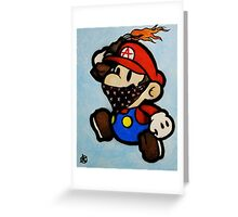 Anarchist Mario Greeting Card