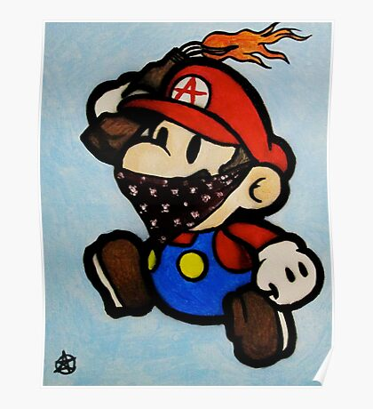 Anarchist Mario Poster