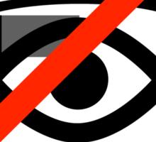 No surveillance sign Sticker