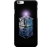 Wibbly Wobbly Timey Wimey iPhone Case/Skin