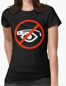 Ban sign (white) Womens Fitted T-Shirt