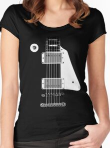 Les Paul FrontView Women's Fitted Scoop T-Shirt