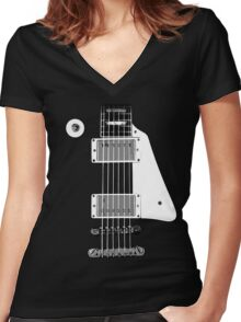 Les Paul FrontView Women's Fitted V-Neck T-Shirt