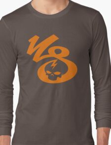 KrakkdSkullz - KS Logo - Orange Long Sleeve T-Shirt