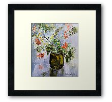 Mountain-ash in a vase Framed Print