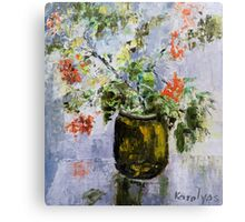 Mountain-ash in a vase Canvas Print