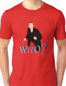 """WHO?"" Ninth Doctor T-Shirt T-Shirt"