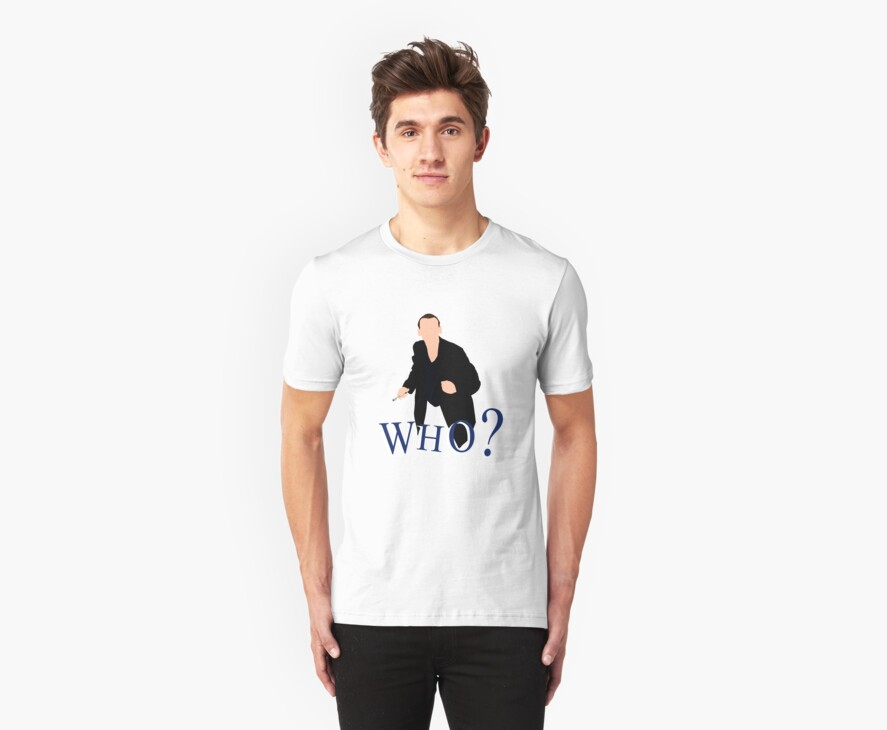 """""""WHO?"""" Ninth Doctor T-Shirt by asnish"""