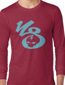 KrakkdSkullz - KS Logo - Turquoise Long Sleeve T-Shirt