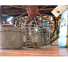 Wire Baskets Photographic Print