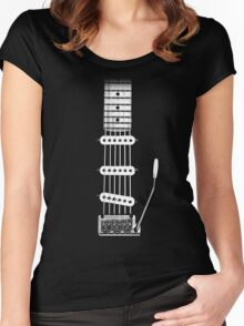 Electric Guitar FrontView Women's Fitted Scoop T-Shirt