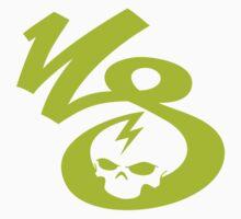 KrakkdSkullz - KS Logo - Chartreuse Kids Clothes