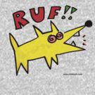 poinky RUF! dawg T shirt by Ollie Brock
