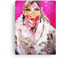 GIRL IN A WHITE FUR  Canvas Print