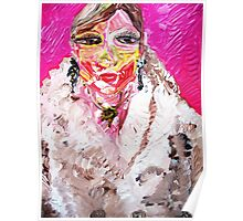 GIRL IN A WHITE FUR  Poster