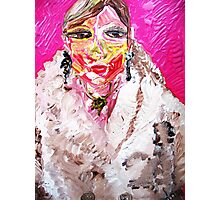 GIRL IN A WHITE FUR  Photographic Print