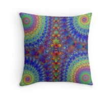 Tie-dyed Improvisation Throw Pillow