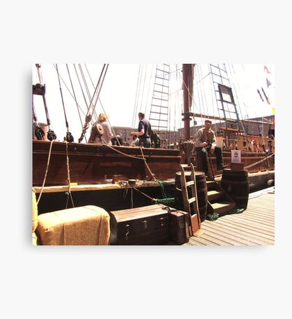 TALL SHIP IN LIVERPOOL Canvas Print