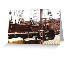 TALL SHIP IN LIVERPOOL Greeting Card